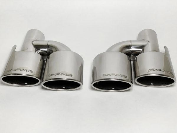 кончики глушителя Мерседес овальные с AMG штамп