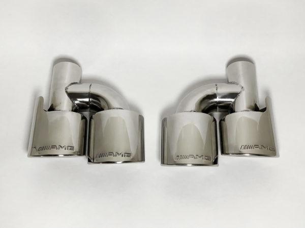 наконечники глушителя Мерседес овальные с AMG штамп