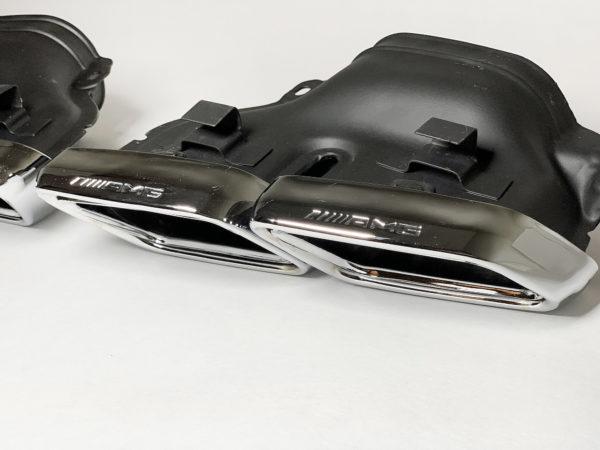 Насадки на глушители Mercedes w205 AMG