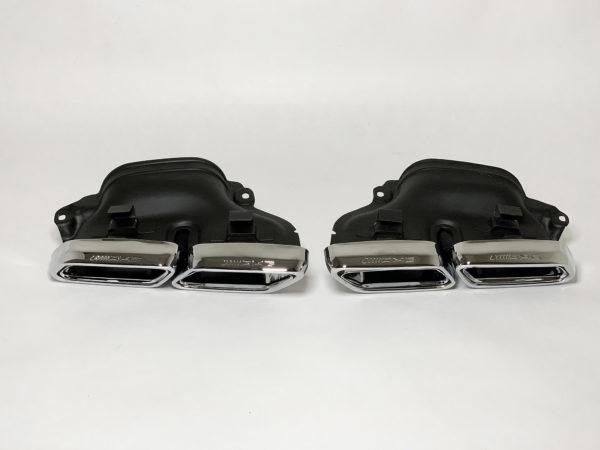 Насадки на глушители Mercedes современный стиль