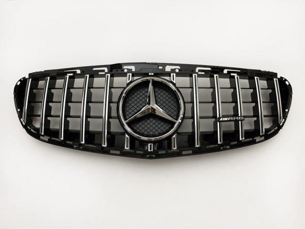 Решетка радиатора Мерседес w212 GT хром 2014-2016